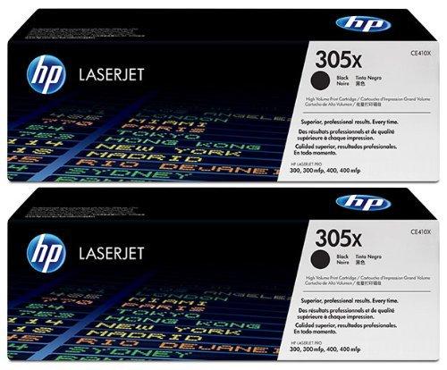 Genuine HP CE410X High Yield Black Toner Cartridge 2 Pack