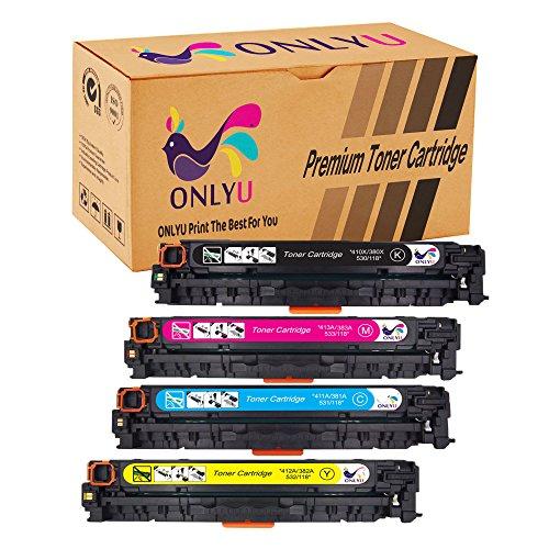 ONLYU Compatible Toner Cartridge Replacement For 305X CE410X CE411A CE412A CE413A 4-Pack1Black  3Color For LaserJet Pro 300 color MFP M375nw Pro 400 color M475dn M475dw M451dn M451nw M451dw