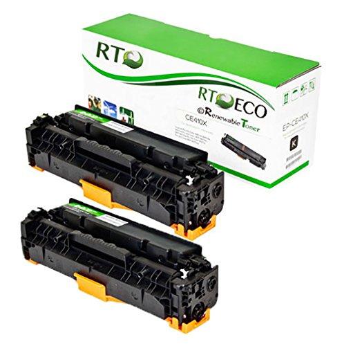 Renewable Toner 305X Compatible Toner Cartridge Replacement HP CE410X for HP LaserJet Pro 300 M375 400 M451 M475 series printers 2-Pack