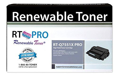RT PRO 51X HP Q7551X High Yield Toner Cartridge 13k Yield for LaserJet P3005 M3035 M3027 Series Printers