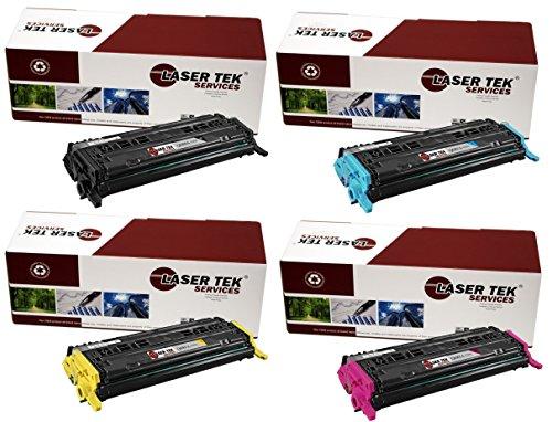 Laser Tek Services High Yield Toner Cartridge 4 Pack Compatible with HP Q6000A Q6001A Q6002A Q6003AColor LaserJet CM1015mfp CM1017mfp 1600 2600n 2605dn 2605dtn