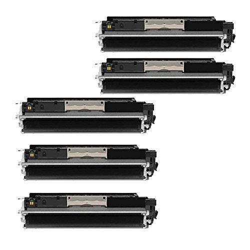 5 Pack Compatible HP 126A CE310A Color Set Toner Cartridge - Black