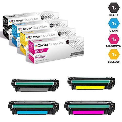 CS Compatible Toner Cartridge Replacement for HP M775 CE340A Black CE341A Cyan CE342A Yellow CE343A Magenta HP 651A LJ Enterprise 700 Color MFP M775D 4 Color Set