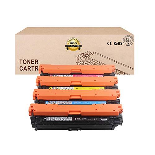 Compatible Toner Cartridges Replacement for HP 651A CE340A CE341A CE342A CE343A Toner Cartridge for HP Laserjet Enterprise 700 Color M775DN M775F M775Z M775Z Toner4colors