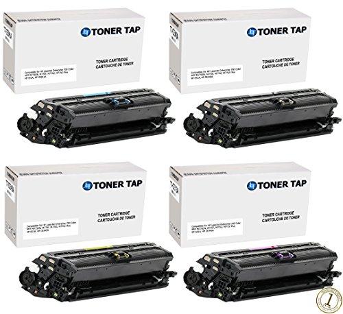 Toner Tap Premium Toner Cartridge Replacement Set for HP 651A HP CE340A CE341A CE342A CE343A For HP LaserJet Enterprise 700 Color MFP M775DN M775F M775Z M775Z Plus