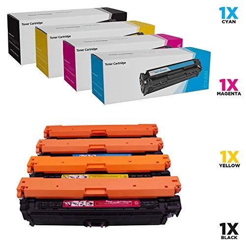 WENMWCompatible Toner Cartridge Replacement for HP 651A CE340A Black CE341A Cyan CE342A Yellow CE343A Magenta Color Laserjet MFP M775 MFP M775D Enterprise 700 MFP M775F M775Z M775Z 4 Color Set4p