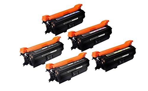 AZ Supplies Compatible Toner Cartridge Replacement for HP 652A 653A 2x CF320A CF321A CF322A CF323A HP Color LaserJet Enterprise M651n M651dn M651xh MFP M680dn M680f M680z 2xB1C1Y1M 5PK