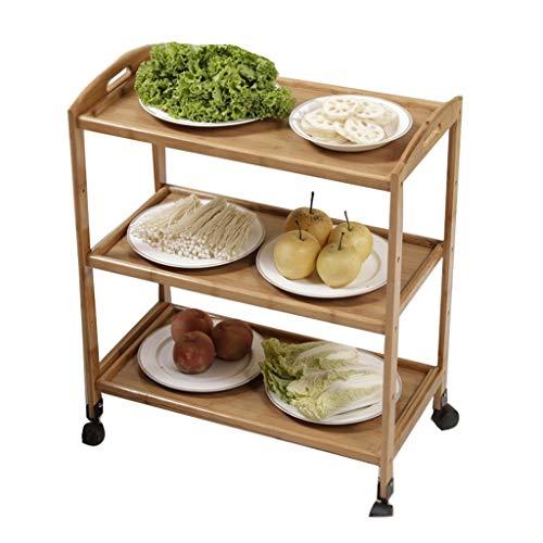 Platforms Stands Shelves Printer Shelf Kitchen Storage Rack Kitchen Dish Shelf Multi-Layer Hot Pot Restaurant Dish Rack Mobile Three-Tier Floor Fruit and Vegetable Rack