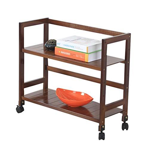 Platforms Stands Shelves Printer Shelf Projector Rack Mobile Rack Home Office Multi-Function Small Shelf Color  Yellow Size  99cm26cm61cm