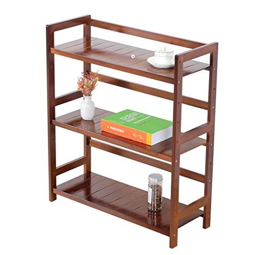 Platforms Stands Shelves Printer Storage Rack Office Rack Kitchen Rack Student Desk Finishing Small Bookshelf Color  Brown Size  69cm26cm56cm