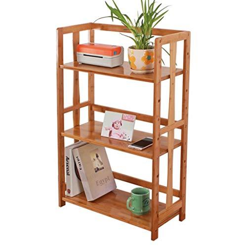 Printer Stands Platforms Stands Shelves Indoor Flower Stand Living Room Bookcase Modern Minimalist Three-Tier Desktop Storage Shelf Bookcase Color  Yellow Size  70cm26cm90cm