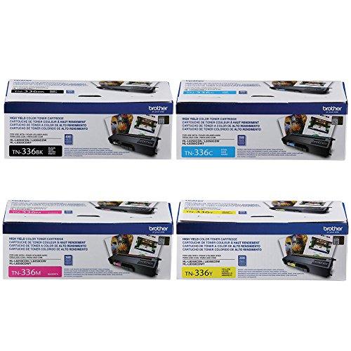 Brother TN336 Toner Cartridge  BlackCyan Magenta Yellow  4-Pack