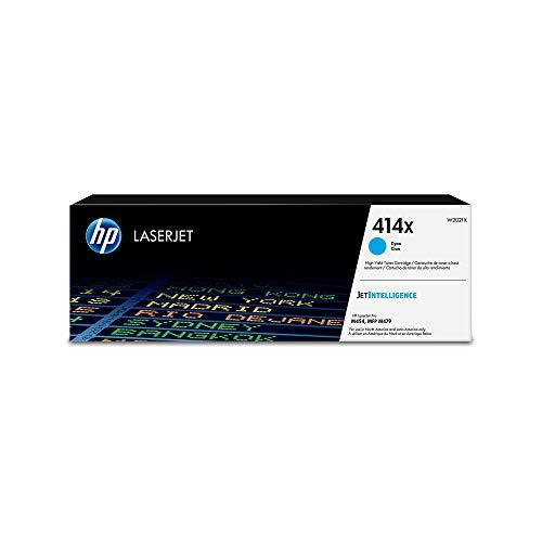 HP 414X  W2021X  Toner Cartridge  Cyan  High Yield