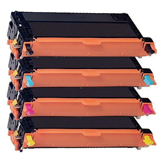 4 Inktoneram Replacement toner cartridges for Xerox 6280 Toner Cartridges 106R1395139213931394 replacement for Xerox 6280 Combo Pack Phaser 6280 6280DN 6280N