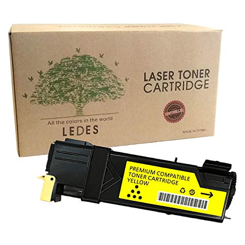 Toner Cartridge Compatible for Xerox 6500 6505 Phaser Laser Printer CR-6500 Series Workcentre High Yield Replacement Yellow