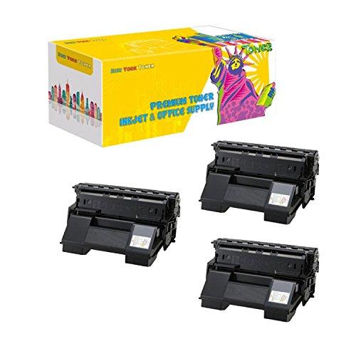 New York TonerTM New Compatible 3 Pack 113R00712 High Yield Toner for Xerox - Phaser 4510YN - Black