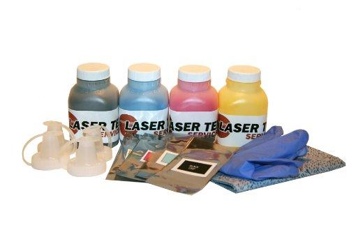 Laser Tek Services 4 Pack BCMY Toner Refill Kit for The Xerox Phaser 6130