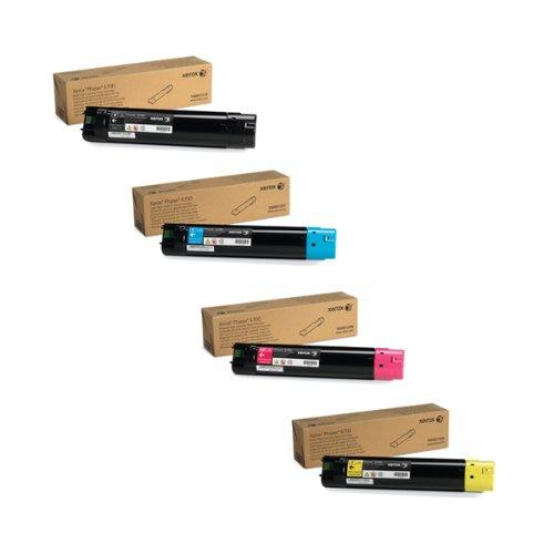 Xerox 106R01507 106R01508 106R01509 106R01510 High Yield Toner Cartridge Set Phaser 6700