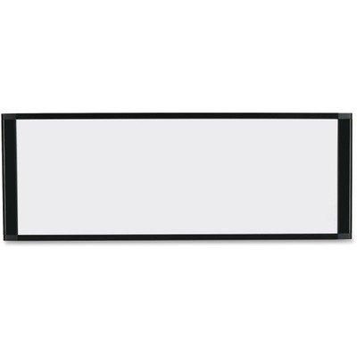 BI-SILQUE VISUAL COMMUNICATION PRODUCTS MA16007705 Cubicle Workstation Dry Erase Board 36 x13 Black Aluminum Frame
