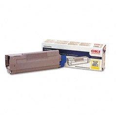 Okidata Brand C6100n - 1-Standard Yield Yellow Toner Office Supply  Toner