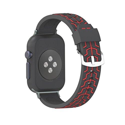 Band for Apple Watch 42mm YJYdada Sports Silicone Bracelet Strap Band For Apple Watch Bands Series 3 2 1 42mm D