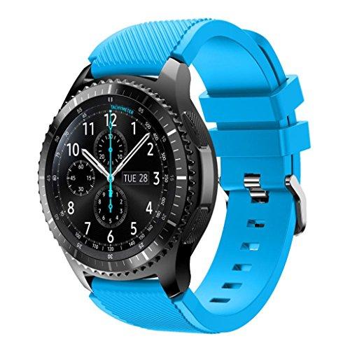 YJYdada Fashion Sports Silicone Bracelet Strap Band For Samsung Gear S3 Frontier Sky Blue
