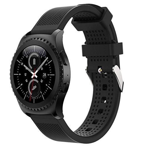 YJYdada New Fashion Sports Silicone Bracelet Strap Band For Samsung Gear S2 Classic 732 Black