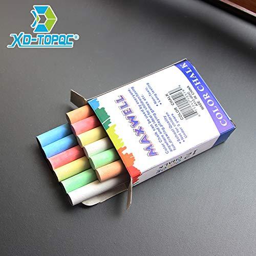 12 pcsLot Dustless Chalk Pen Drawing Chalks For Blackboard 6 Colors Stationary Office School Supplies Accessories tizas escolar