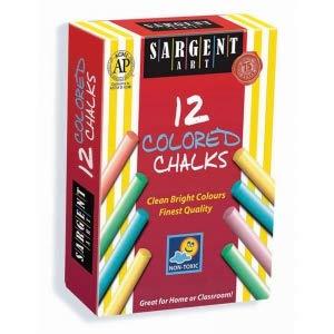 Sargent Art SAR662010BN Assorted Colors Dustless Chalk MultiPk 24 Boxes
