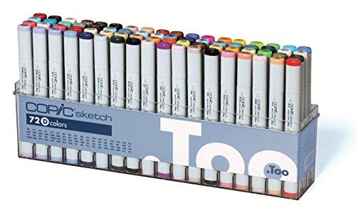 Copic Sketch Marker 72 Color Set D