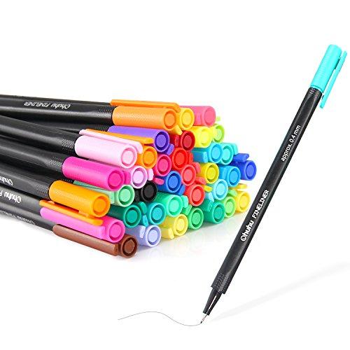 Ohuhu 48 Colors Fineliner Pens 04mm Colored Fine Line Marker Marking Pen for Journal Book Sketch Drawing Fine Liner Coloring Book