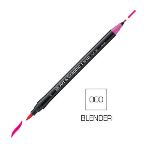 ZIG Art and Graphic Twin Tip Brush Marker Pen 000 Blender