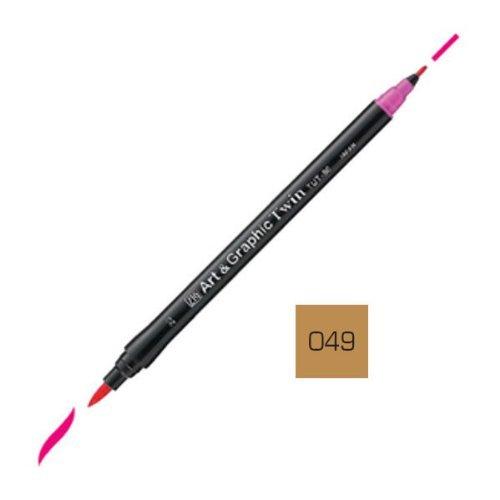 Zig Art and Graphic Twin Tip Brush Marker Pen 049 Beige