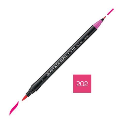 Zig Art and Graphic Twin Tip Brush Marker Pen 202 Light Magenta