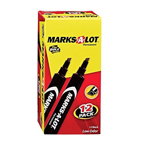 Marks-A-Lot  Large Chisel Tip Permanent Marker Set Pack of 12 98028