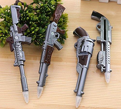 Glanzzeit Cool Replica Gun Ballpoint Pens with Magnets Novelty Ball Pens Set of 4 Pcs