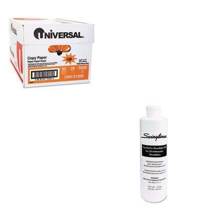 KITSWI1760049UNV21200 - Value Kit - Swingline Shredder Oil SWI1760049 and Universal Copy Paper UNV21200
