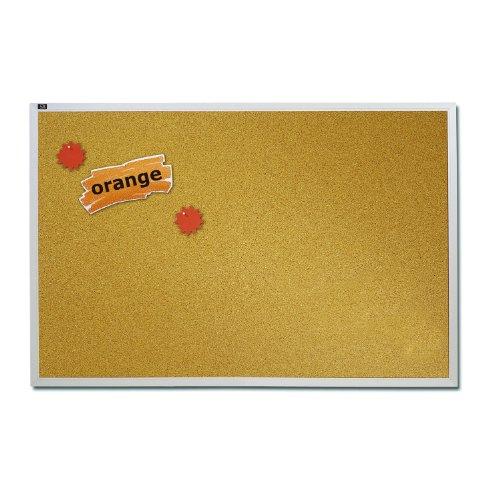 Quartet Natural Cork Bulletin Board 4-Feet x 6-Feet Aluminum Frame ECKA406
