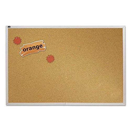 Quartet Natural Cork Bulletin Board 4 x 8 Feet Aluminum Frame ECKA408
