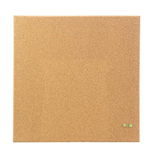 U Brands Square Frameless Cork Bulletin Board 14 x 14 Inches Natural