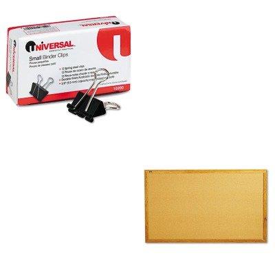 KITQRT305UNV10200 - Value Kit - Quartet Bulletin Board QRT305 and Universal Small Binder Clips UNV10200