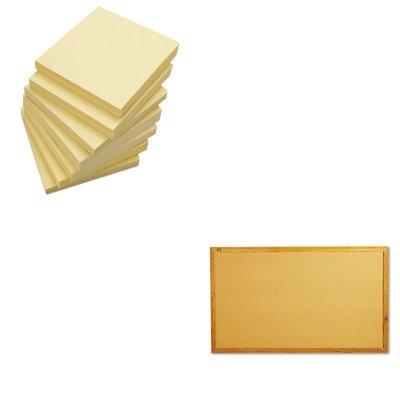 KITQRT305UNV35668 - Value Kit - Quartet Bulletin Board QRT305 and Universal Standard Self-Stick Notes UNV35668