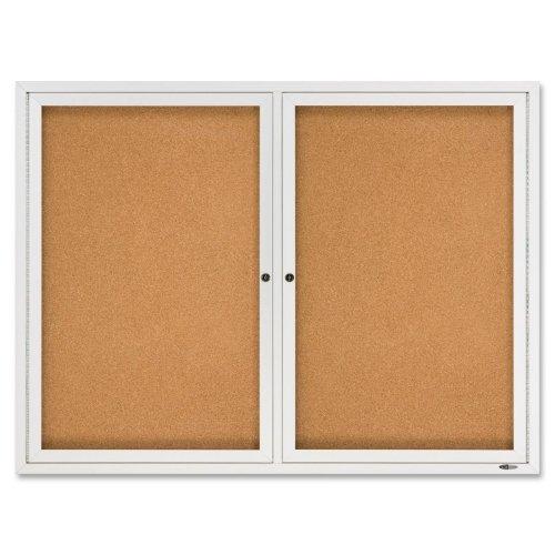 Quartet Bulletin Board - 48 Height x 36 Width - Cork Surface - Anodized Aluminum Frame