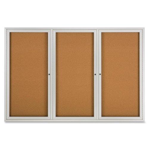Quartet Bulletin Board - 48 Height x 72 Width - Cork Surface - Anodized Aluminum Frame