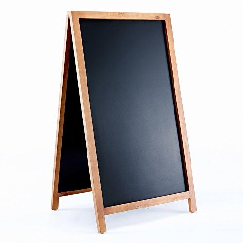 Vintage Wooden Magnetic A Frame Chalkboard Sign for Sidewalk Restaurant Cafe Bar - 42x24 by VersaChalk