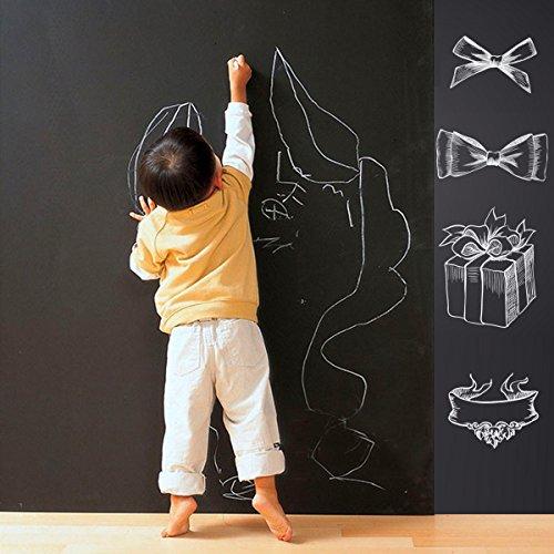 Cusfull Self-Adhesive Blackboard Removable Chalkboard Wall Sticker for HomeOffice Decor 354 x 787-Black