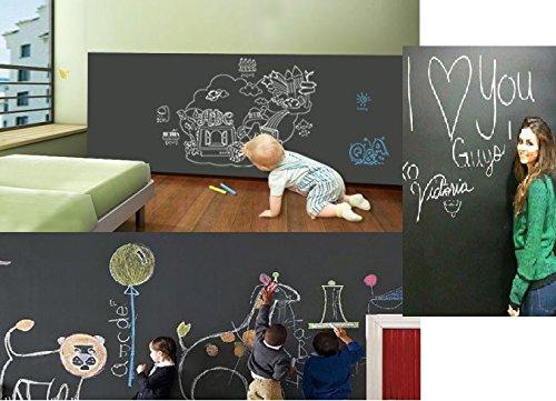 Duofire Black177787inch Vinyl chalkboard Peel and Stick Blackboard Sticker Memo Removable Vinyl Chalkboard Wall Sticker