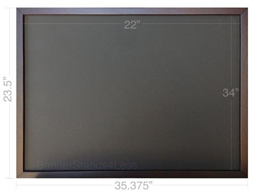 SINGLE SIDE - 24x36 Restaurant Cafe Wood Frame Menu Board Black Chalkboard