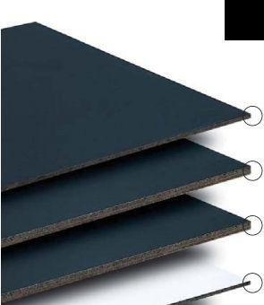 Marsh Industries Ur-406-00K8 48X72 Porcelain Chalkboard - Black