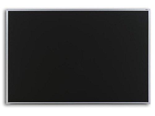 Marsh Pro-Lite 48x96 Black Porcelain Chalkboard Contractor with Hanger Bar Aluminum Trim  2 Map Rail
